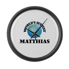 World's Sexiest Matthias Large Wall Clock