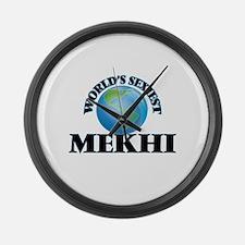 World's Sexiest Mekhi Large Wall Clock