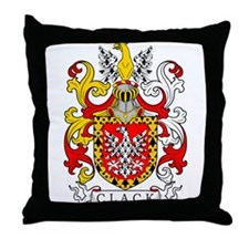 Clack Coat of Arms Throw Pillow