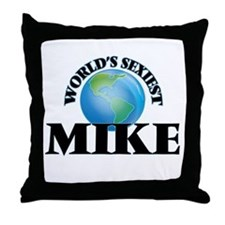 World's Sexiest Mike Throw Pillow