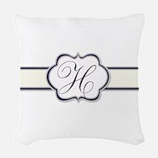 Elegant Monogram by LH Woven Throw Pillow