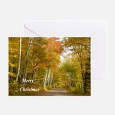Country Fall Road Greeting Cards