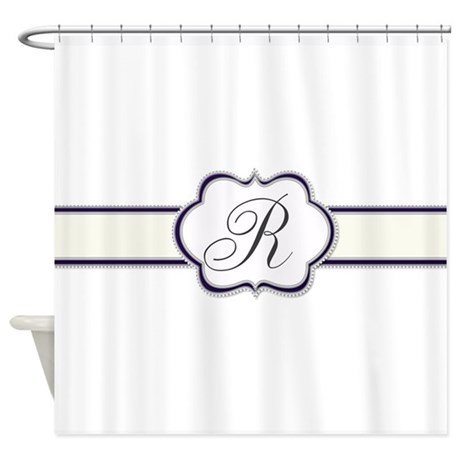 elegant monogram by lh shower curtain