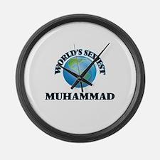 World's Sexiest Muhammad Large Wall Clock