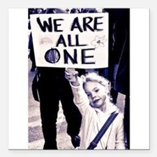 "WE ARE ALL ONE Square Car Magnet 3"" x 3"""