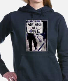 WE ARE ALL ONE Women's Hooded Sweatshirt