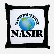 World's Sexiest Nasir Throw Pillow