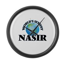 World's Sexiest Nasir Large Wall Clock