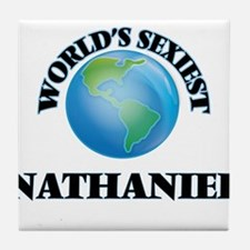World's Sexiest Nathaniel Tile Coaster