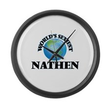 World's Sexiest Nathen Large Wall Clock
