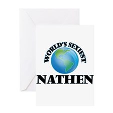 World's Sexiest Nathen Greeting Cards