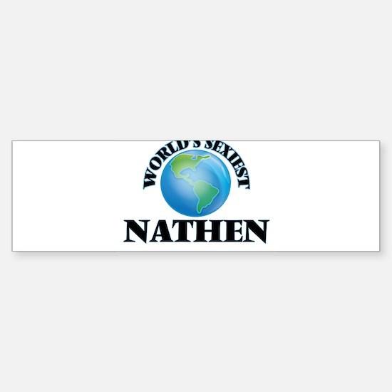 World's Sexiest Nathen Bumper Car Car Sticker