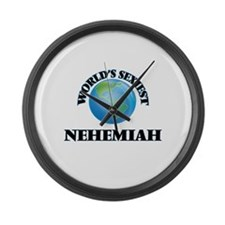 World's Sexiest Nehemiah Large Wall Clock