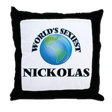 World's Sexiest Nickolas Throw Pillow