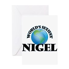 World's Sexiest Nigel Greeting Cards