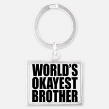 World's Okayest Brother Keychains