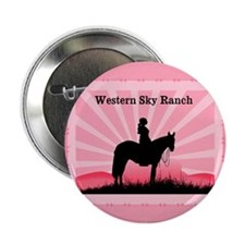 "Pink Cowgirl 2.25"" Button"