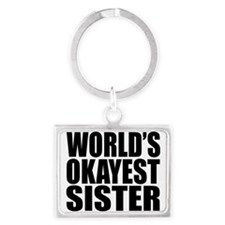 World's Okayest Sister Keychains