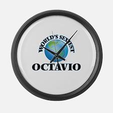 World's Sexiest Octavio Large Wall Clock