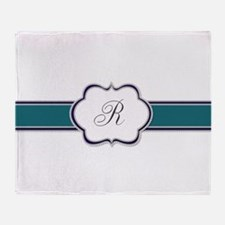 Elegant Monogram by LH Throw Blanket