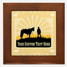 Add Text Cowboy Framed Tile