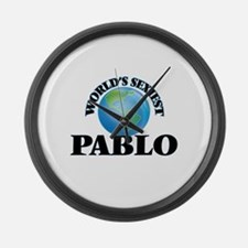 World's Sexiest Pablo Large Wall Clock