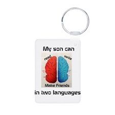 My son can...in two languages! Keychains