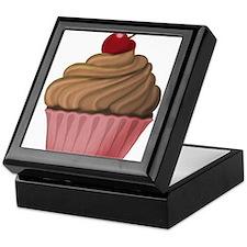 Sweet Pink and Brown Cupcake Keepsake Box