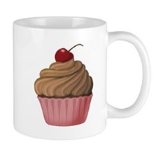 Sweet Pink and Brown Cupcake Mugs