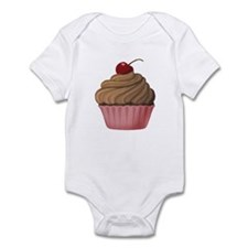 Sweet Pink and Brown Cupcake Body Suit
