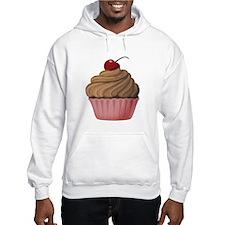 Sweet Pink and Brown Cupcake Hoodie