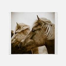 Icelandic Pony Duo Throw Blanket