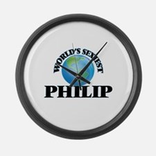 World's Sexiest Philip Large Wall Clock