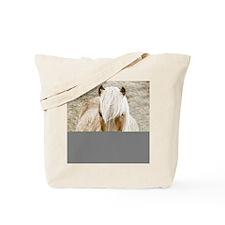 Windswept Blonde Pony Tote Bag