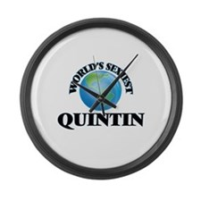 World's Sexiest Quintin Large Wall Clock