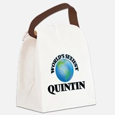World's Sexiest Quintin Canvas Lunch Bag