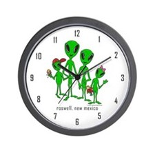Roswell Alien Family Wall Clock