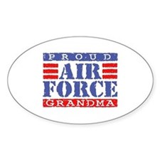 Proud Air Force Grandma Oval Decal