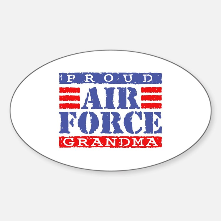 Proud Air Force Grandma Oval Decal