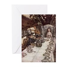 Mad Tea Party Greeting Cards (Pk of 10)