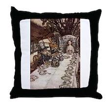 Mad Tea Party Throw Pillow