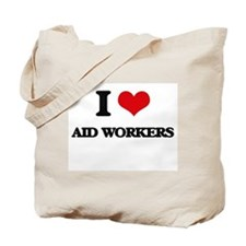 I love Aid Workers Tote Bag