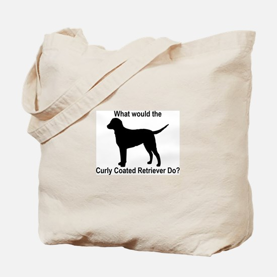 What would the Curly Coated R Tote Bag