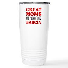 Promoted To Babcia Drinkware Travel Mug