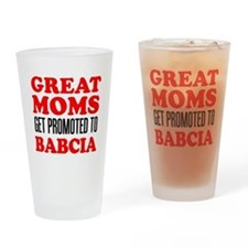 Promoted To Babcia Drinkware Drinking Glass