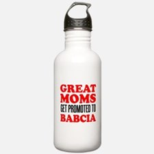 Promoted To Babcia Drinkware Water Bottle