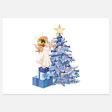 Christmas Tree Angel- Invitations