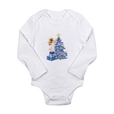 Christmas Tree Angel- Long Sleeve Infant Bodysuit