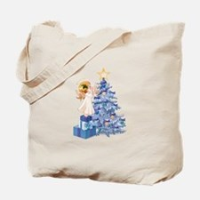 Christmas Tree Angel- Tote Bag