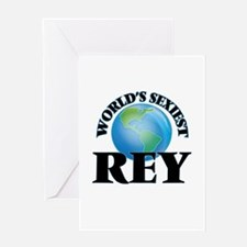 World's Sexiest Rey Greeting Cards
